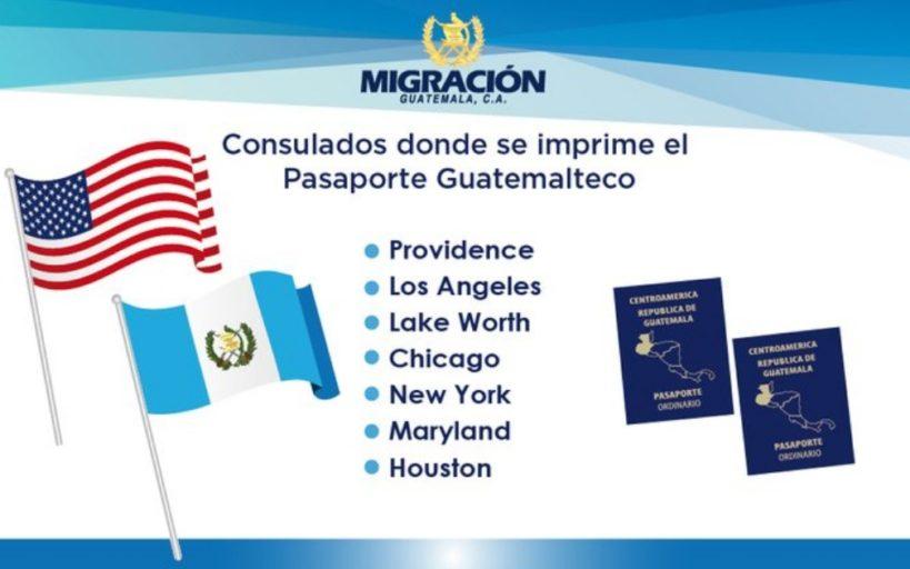 Consulados donde se imprime el pasaporte guatemalteco