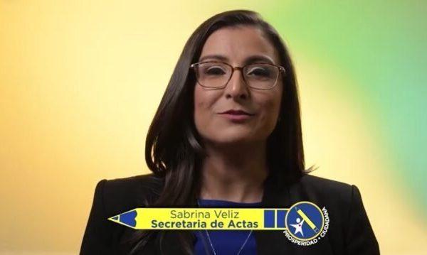Sabrina Veliz. Fotografía de FB de Prosperidad Ciudadana.