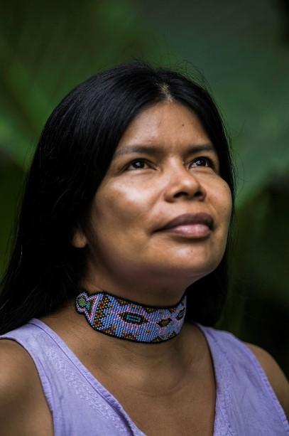 lideresa indígena kichwa del pueblo Sarayaku, Patricia Gualinga